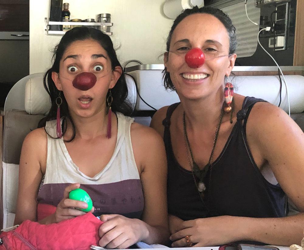 chicas clown